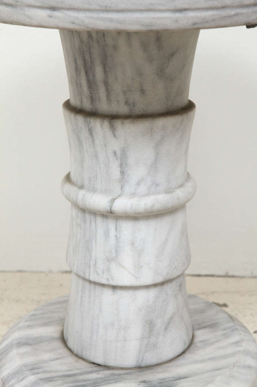 Marble Pedestal Side Table For Sale 2