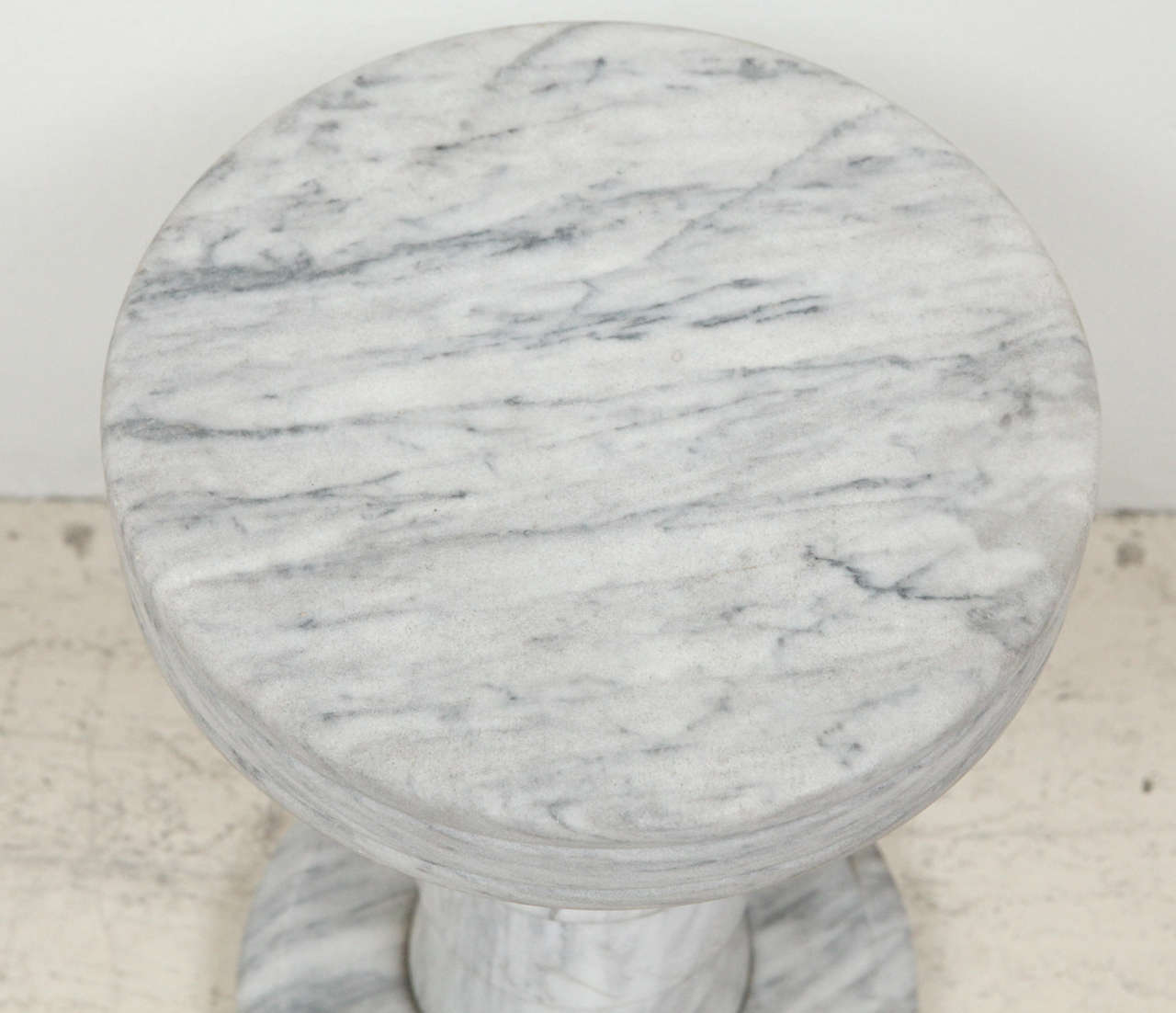 Marble Pedestal Side Table For Sale 3