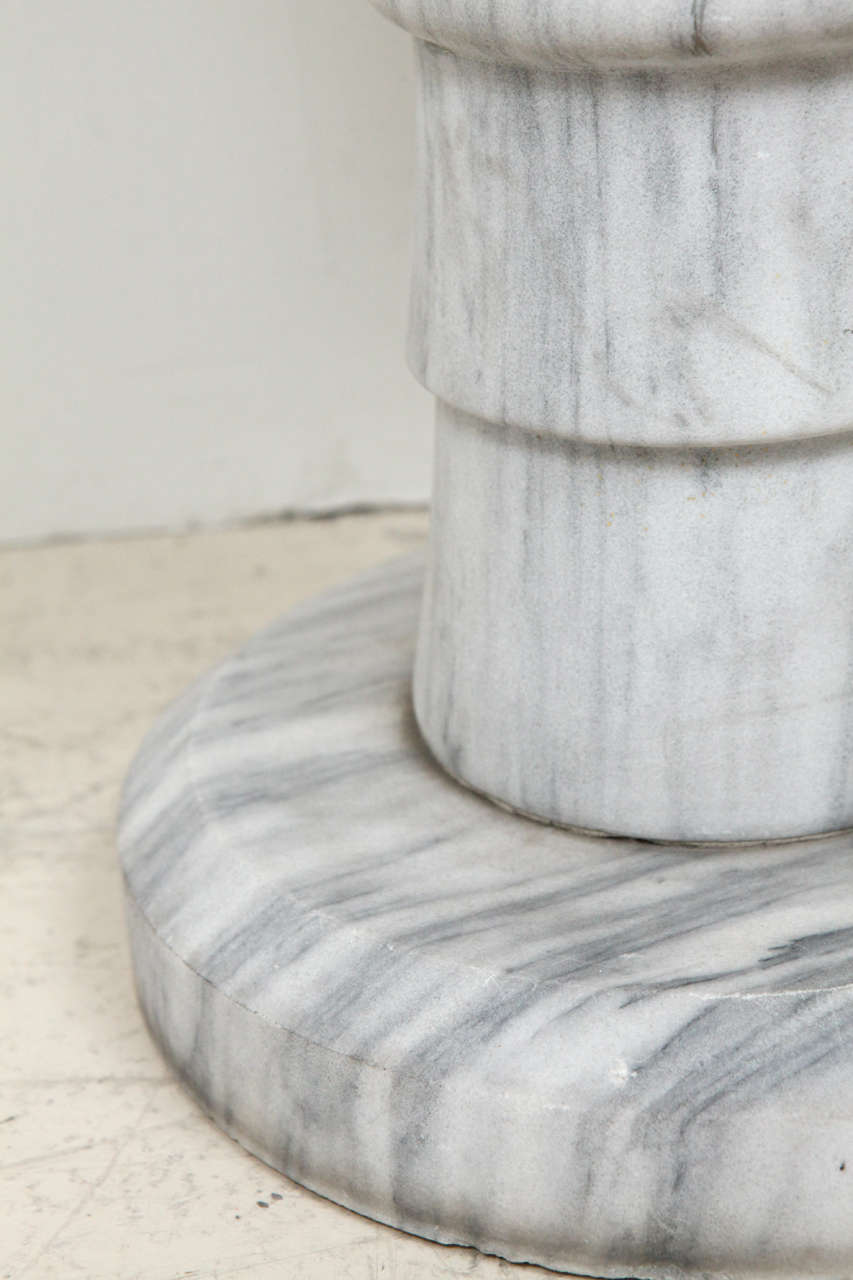 Marble Pedestal Side Table For Sale 4