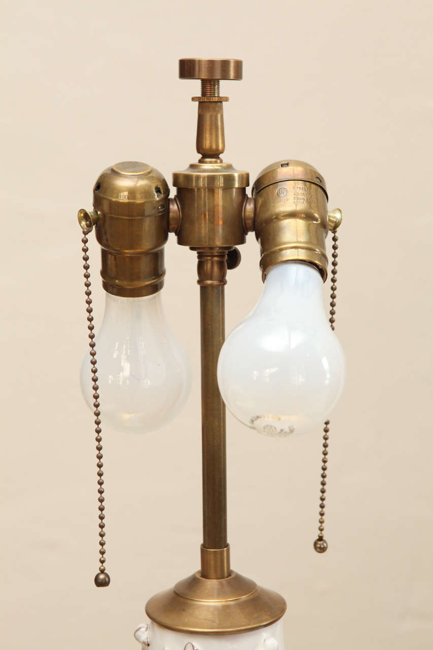 Blanc de chine table lamp at 1stdibs for Table de chine