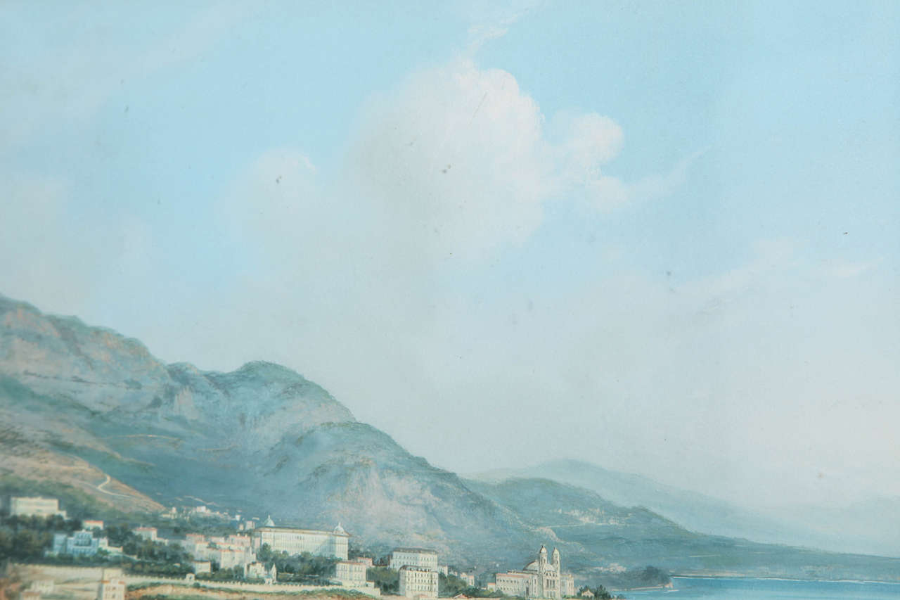 Framed Gouache of the Bay of Naples 4