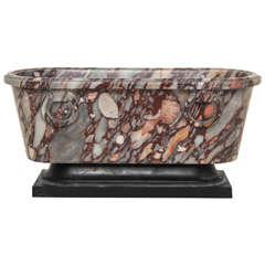 A 19th Century Italian Neoclassic Marble Bath