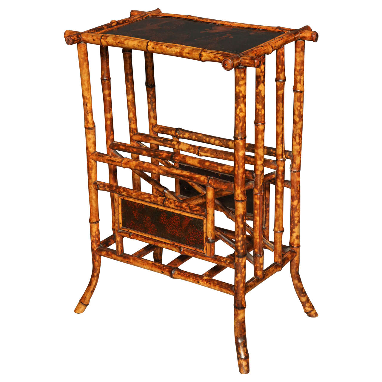 Anglo japanese bamboo side table for sale at 1stdibs for Bamboo side table