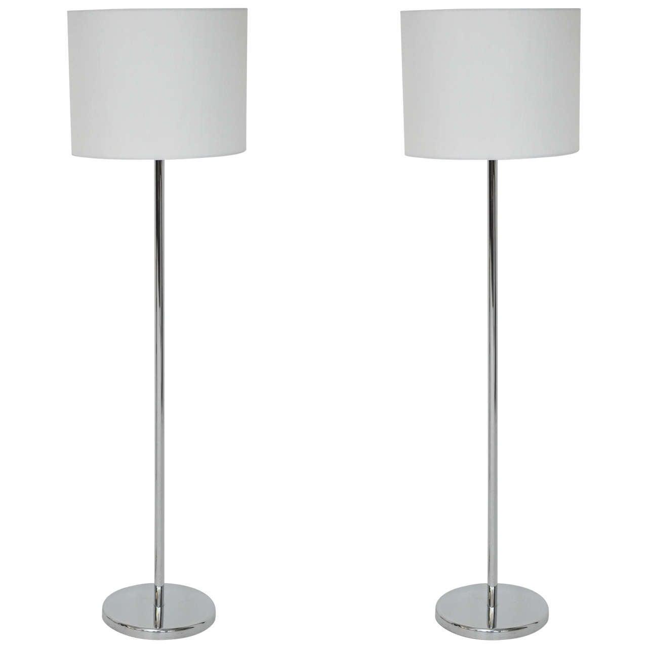 Nessen Studio Floor Lamps Polished Nickel
