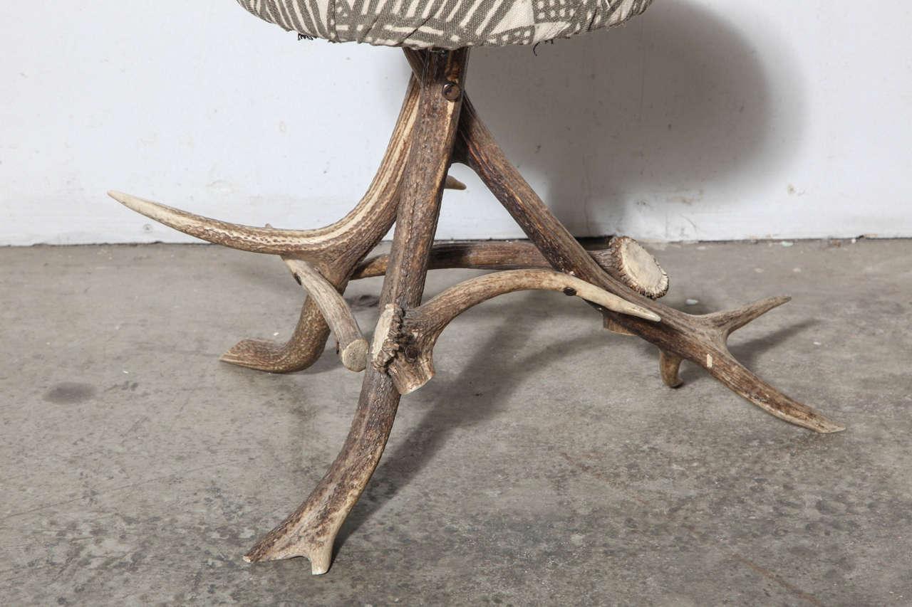 Folk Art 19th Century Antler Stool For Sale