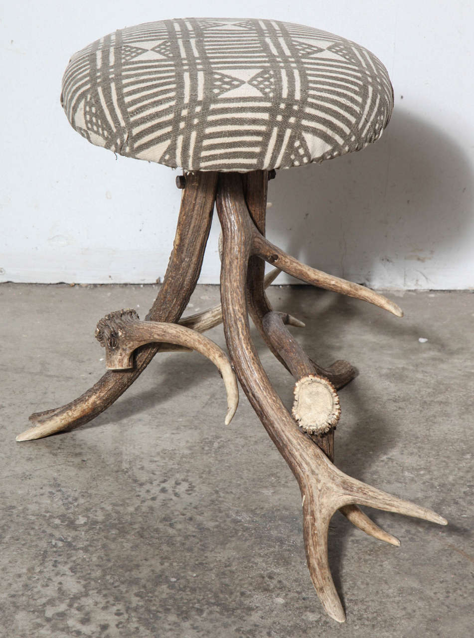 American 19th Century Antler Stool For Sale