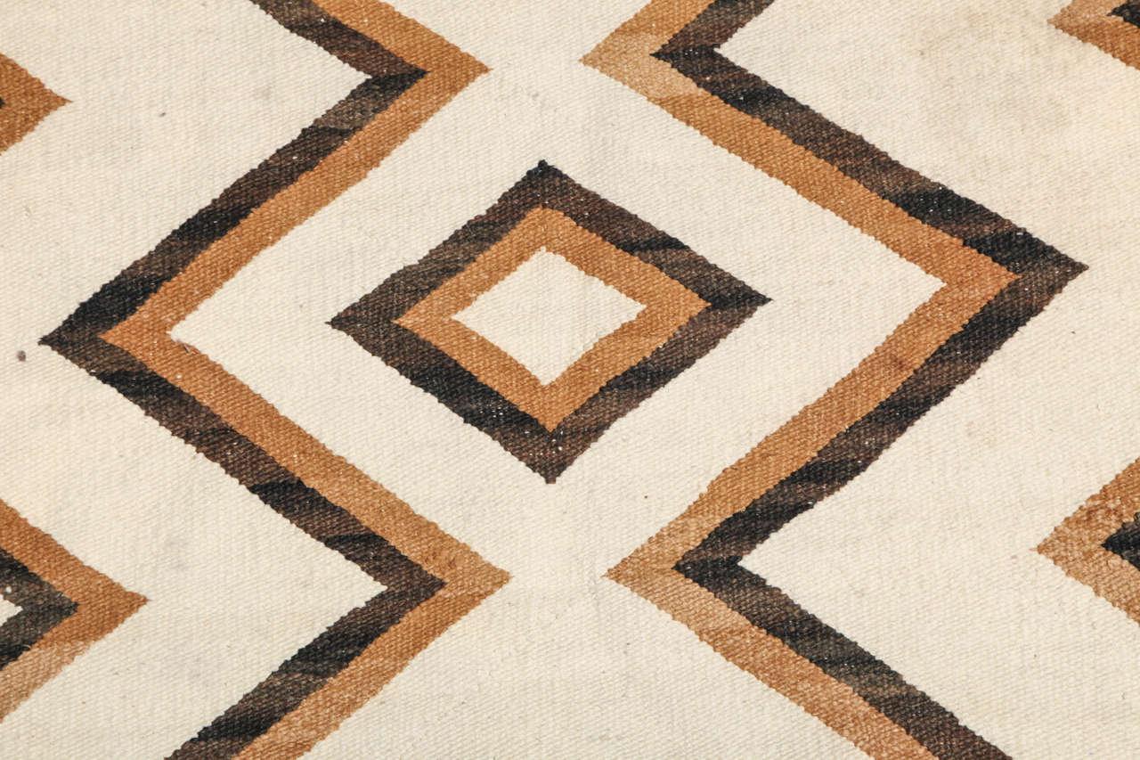 Native American Geometric Handwoven Wool Rug At 1stdibs
