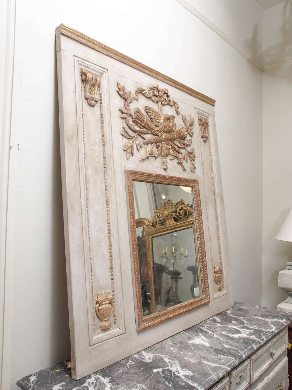 19th century trumeau mirror at 1stdibs. Black Bedroom Furniture Sets. Home Design Ideas