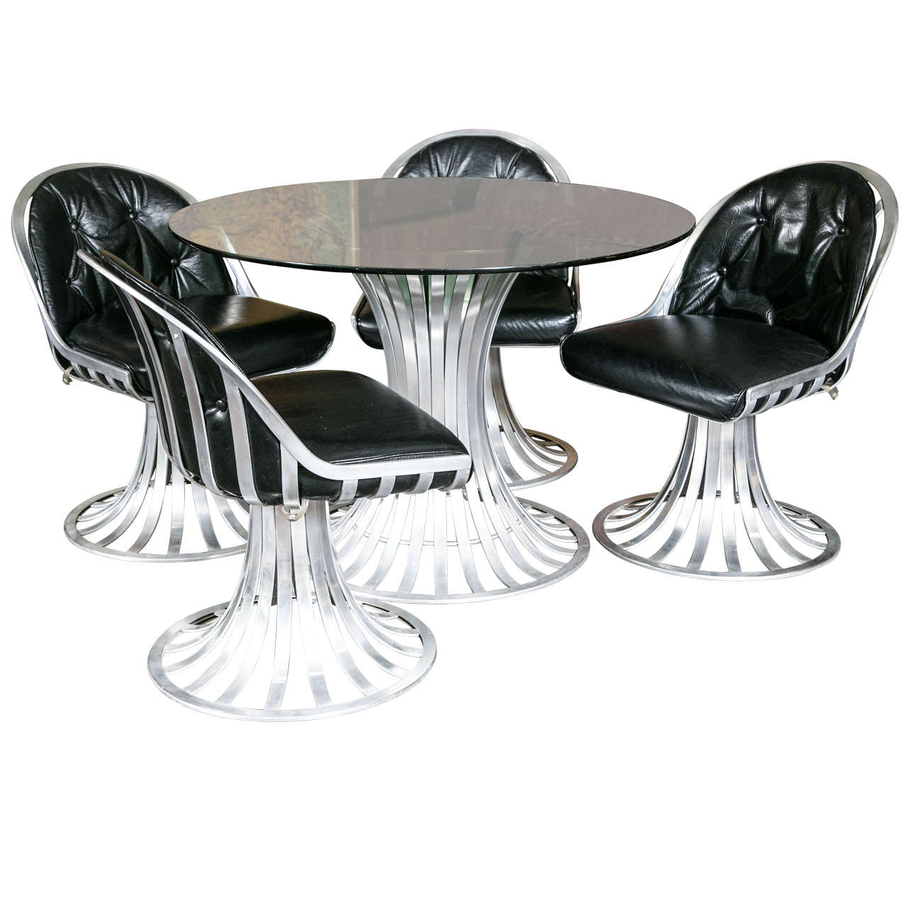 Round Chairs For Sale: Russell Woodard Round Table And Four Chairs For Sale At