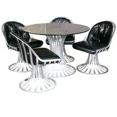 Russell Woodard Round Table and Four Chairs
