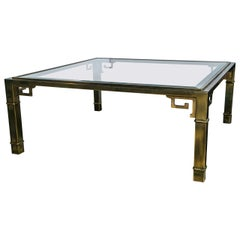 Mastercraft Brass Coffee Table
