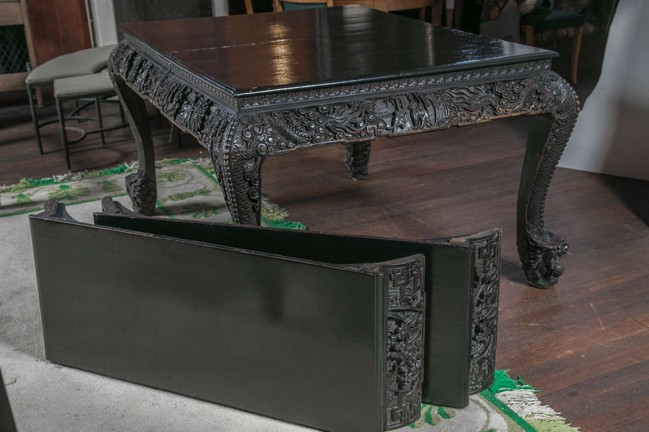 Carved and Exotic Asian Table For Sale 3
