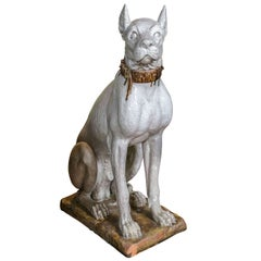 Terra Cotta Great Dane Dog Statue