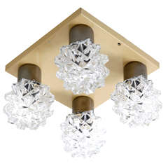 Seventies Chrystal Flush Mount Lights