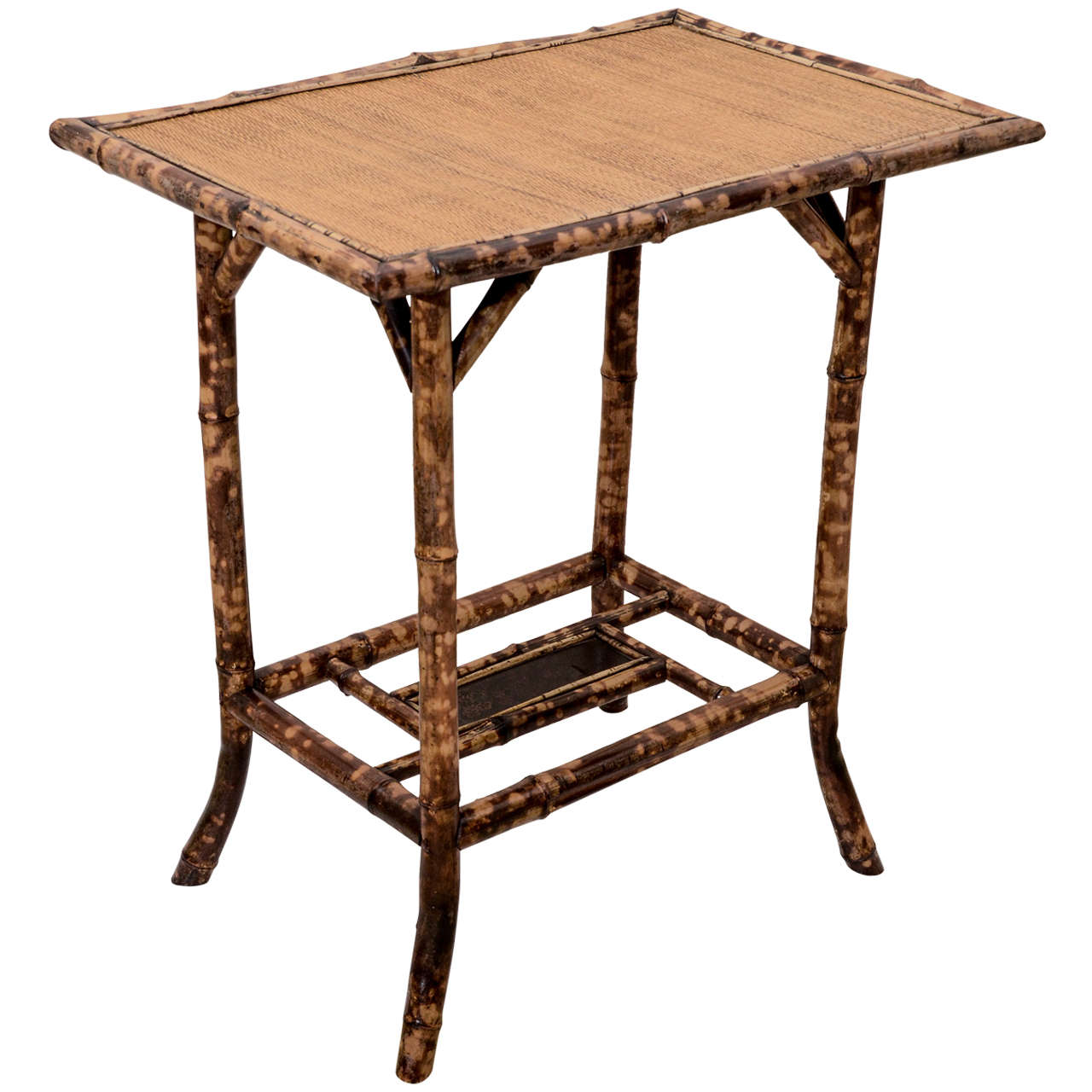 Bamboo Tortoise Coffee Table: Tortoise Shell Finish Bamboo Grasscloth Top Table At 1stdibs