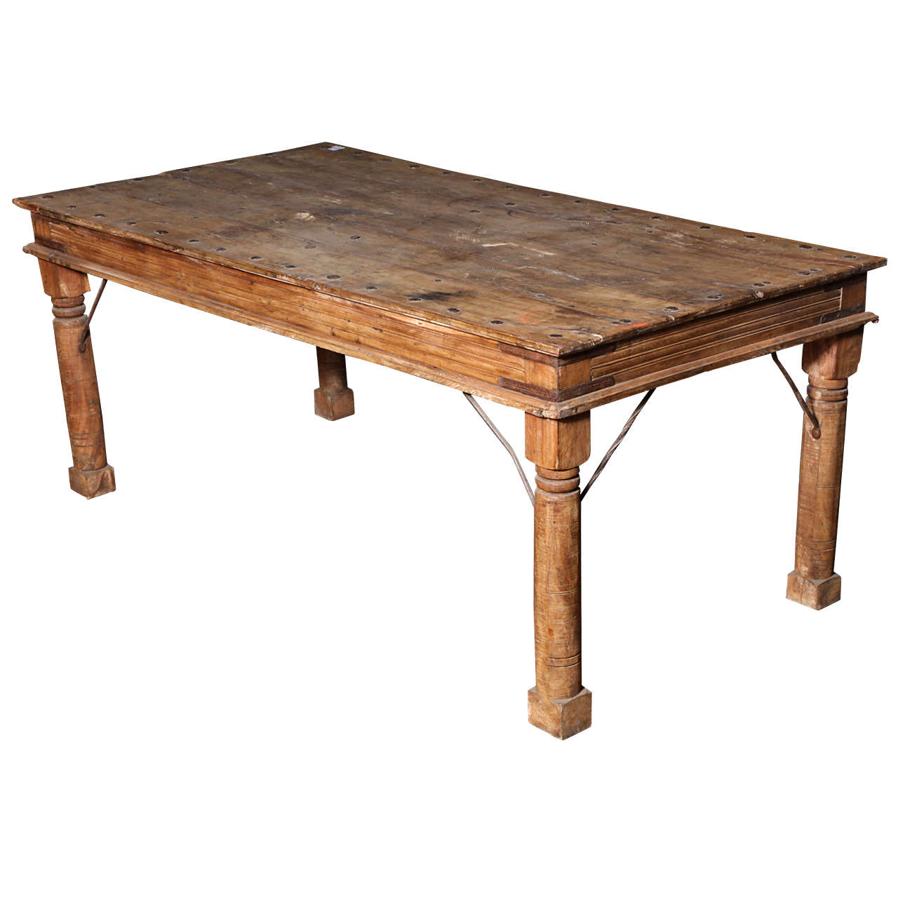 Shesham Wood Bed Or Dining Table At 1stdibs