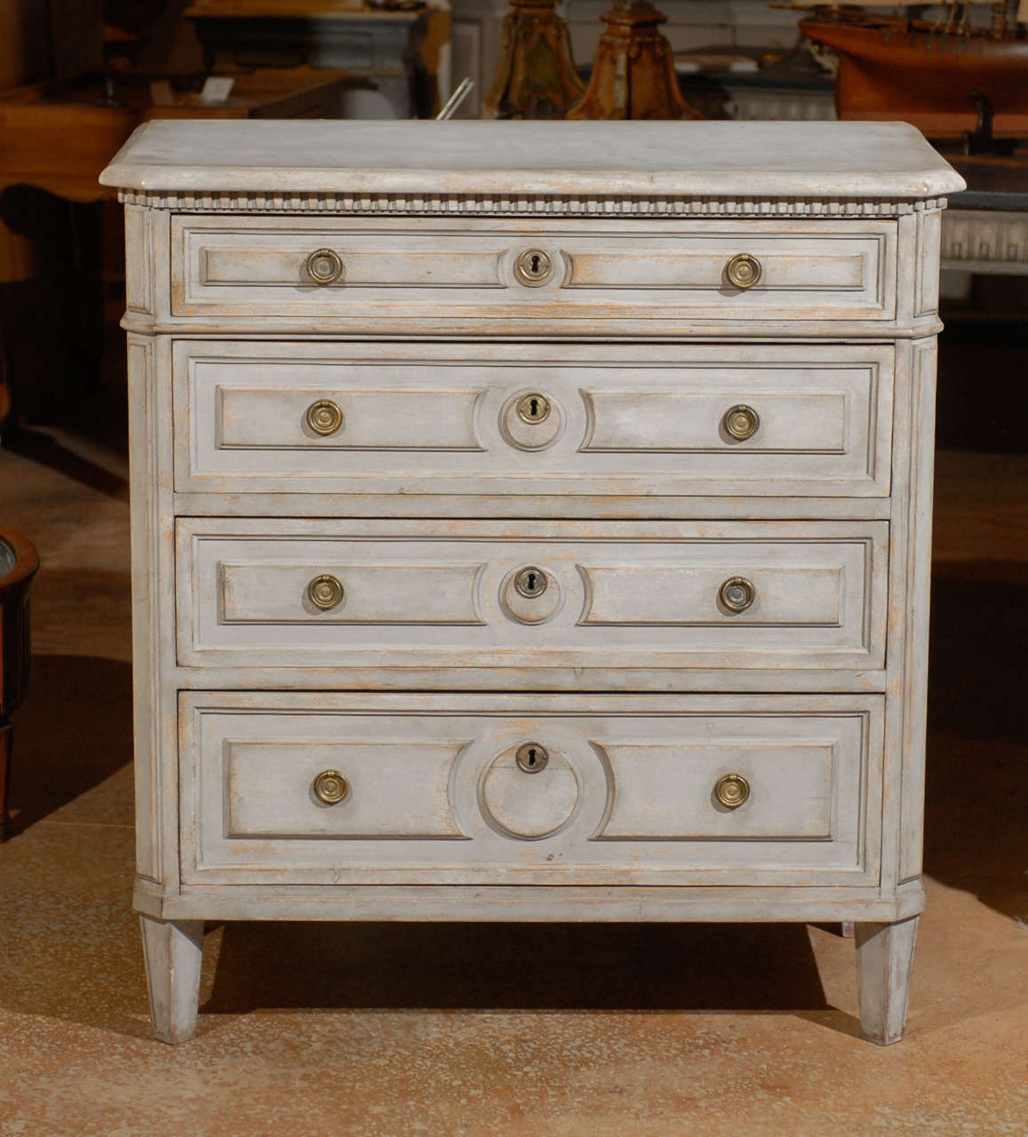 Painted Swedish Commode 2