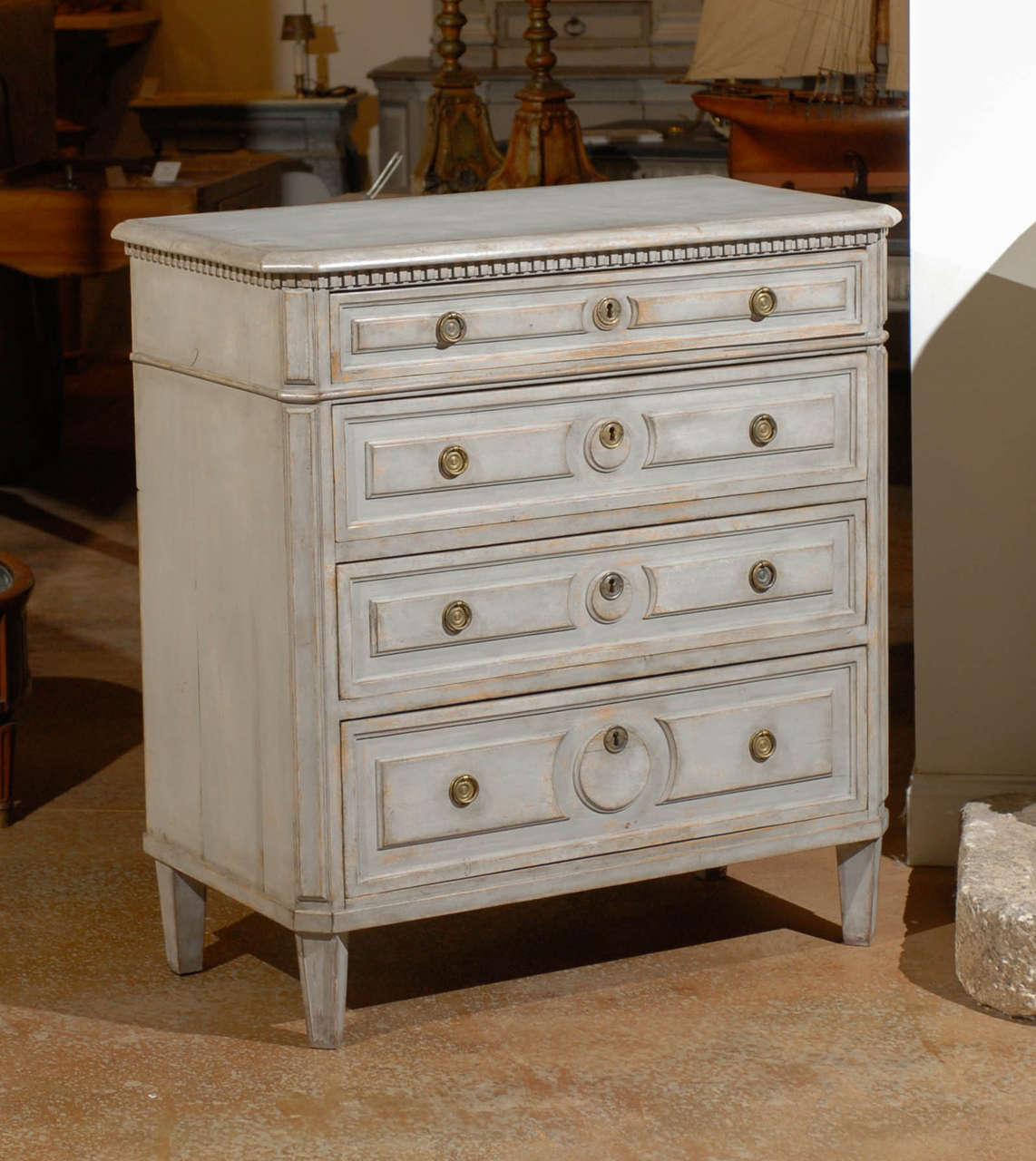 Painted Swedish Commode 10