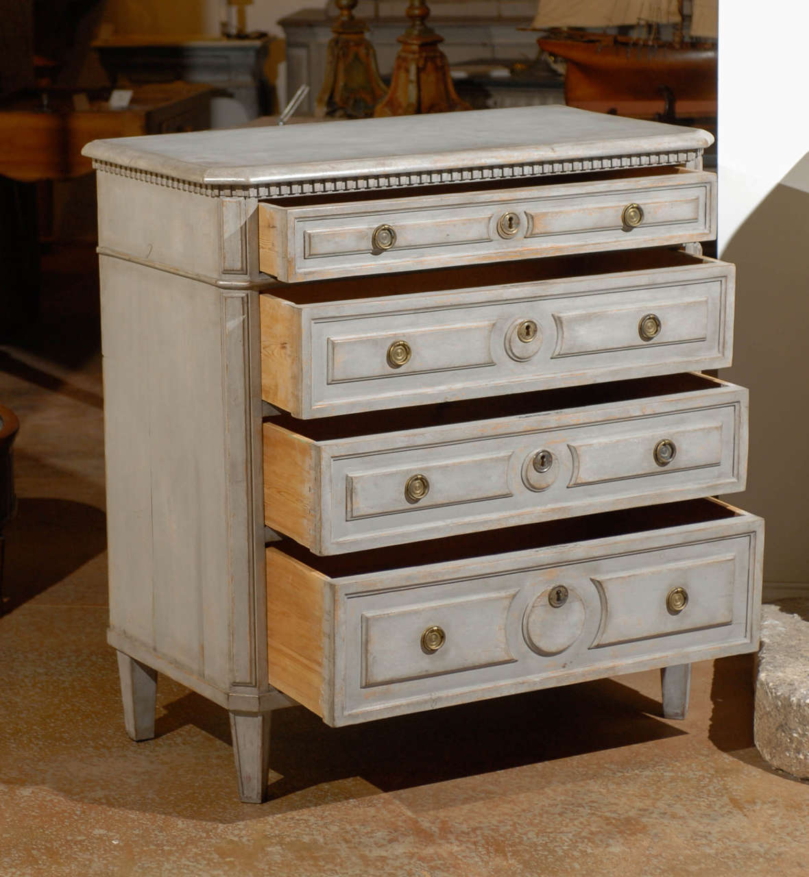 Painted Swedish Commode 5