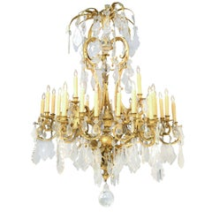 Palm Beach Ritz Carlton 36 Light Gilt Bronze Brighton Pavilion Style Chandelier
