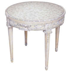 Painted Table with Mirrored Top