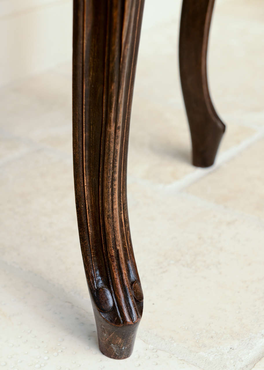 Pair of French Walnut Stools with Square Leopard Seats 10