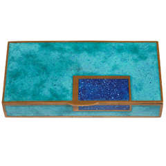 Jean Goulden Art Deco Copper and Champlevé Enamel Box