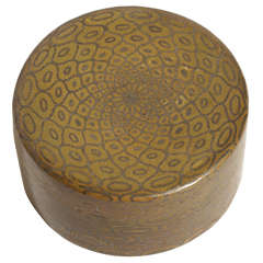 Jean Dunand French Art Deco Dinanderie Round Box