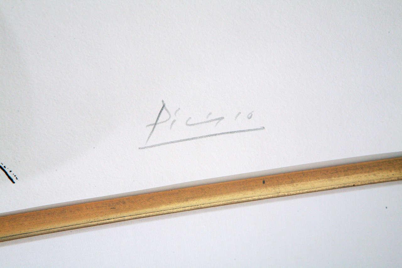 Mid-20th Century Picasso Lithograph - Profil de Femme For Sale