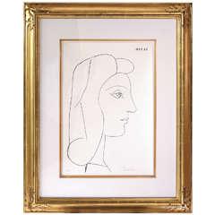Picasso Lithograph - Profil de Femme