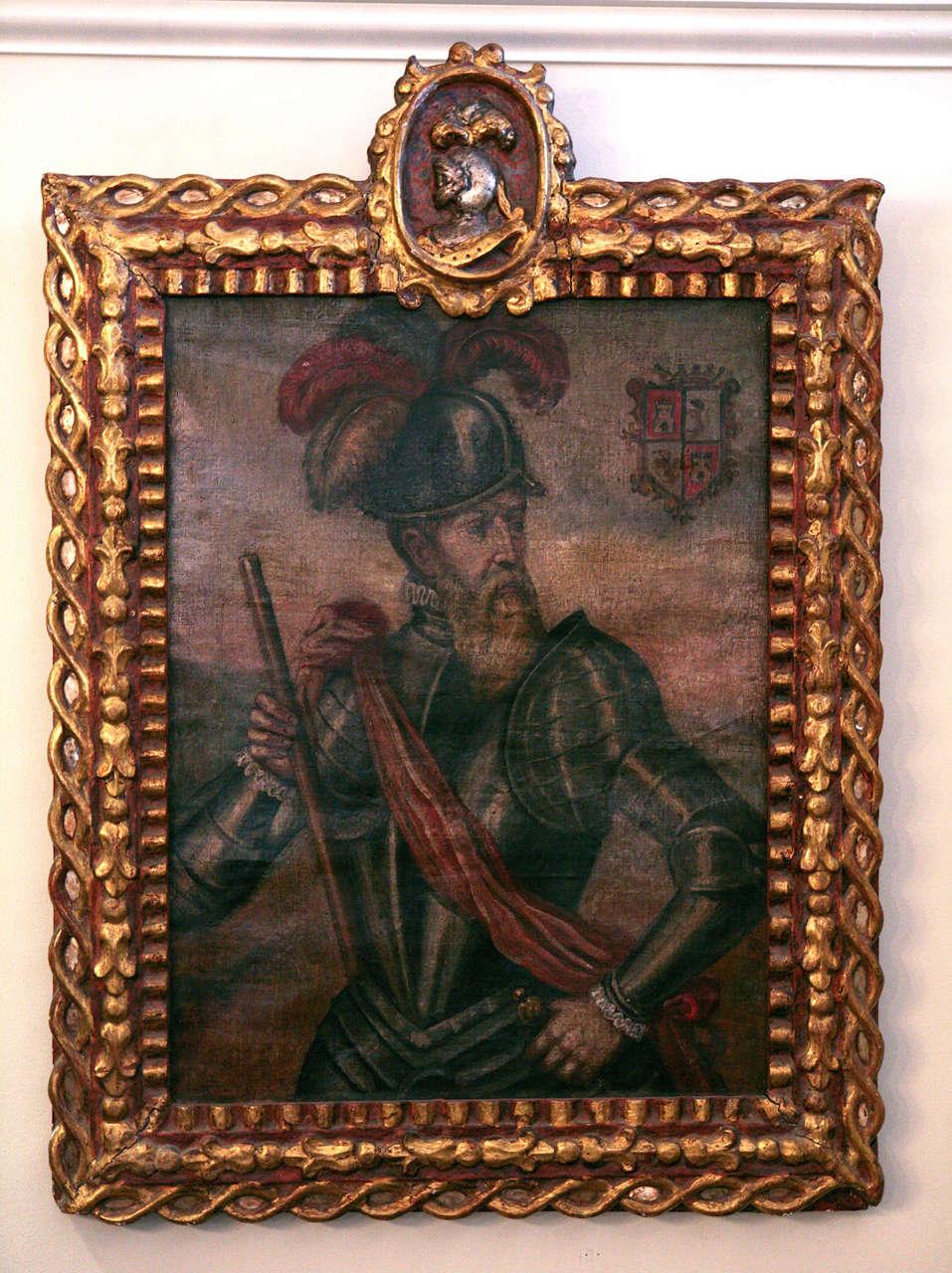 18th Century Peruvian Conquistador Painting image 2