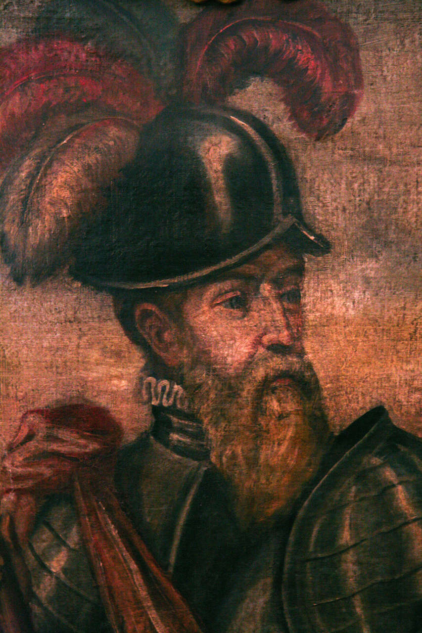 18th Century Peruvian Conquistador Painting For Sale 1