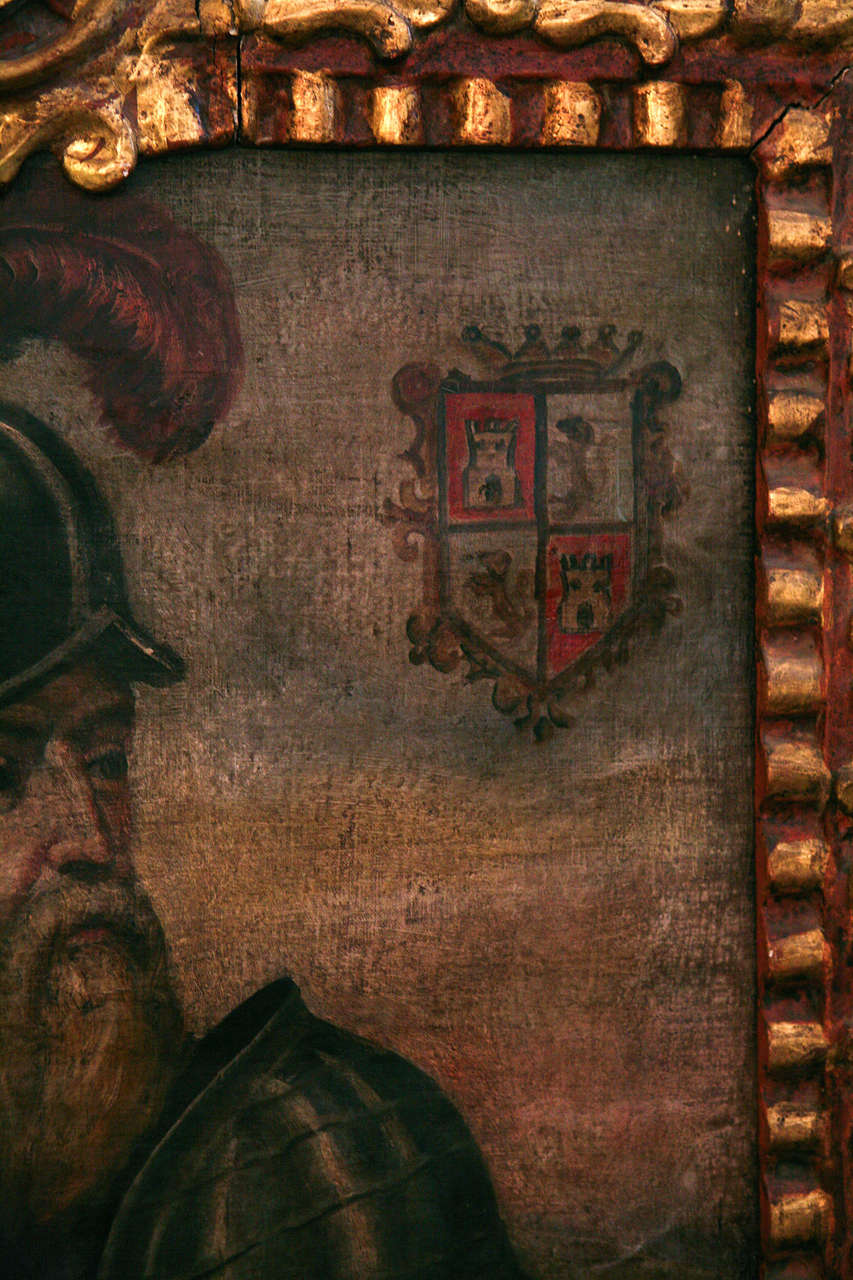 18th Century Peruvian Conquistador Painting For Sale 2