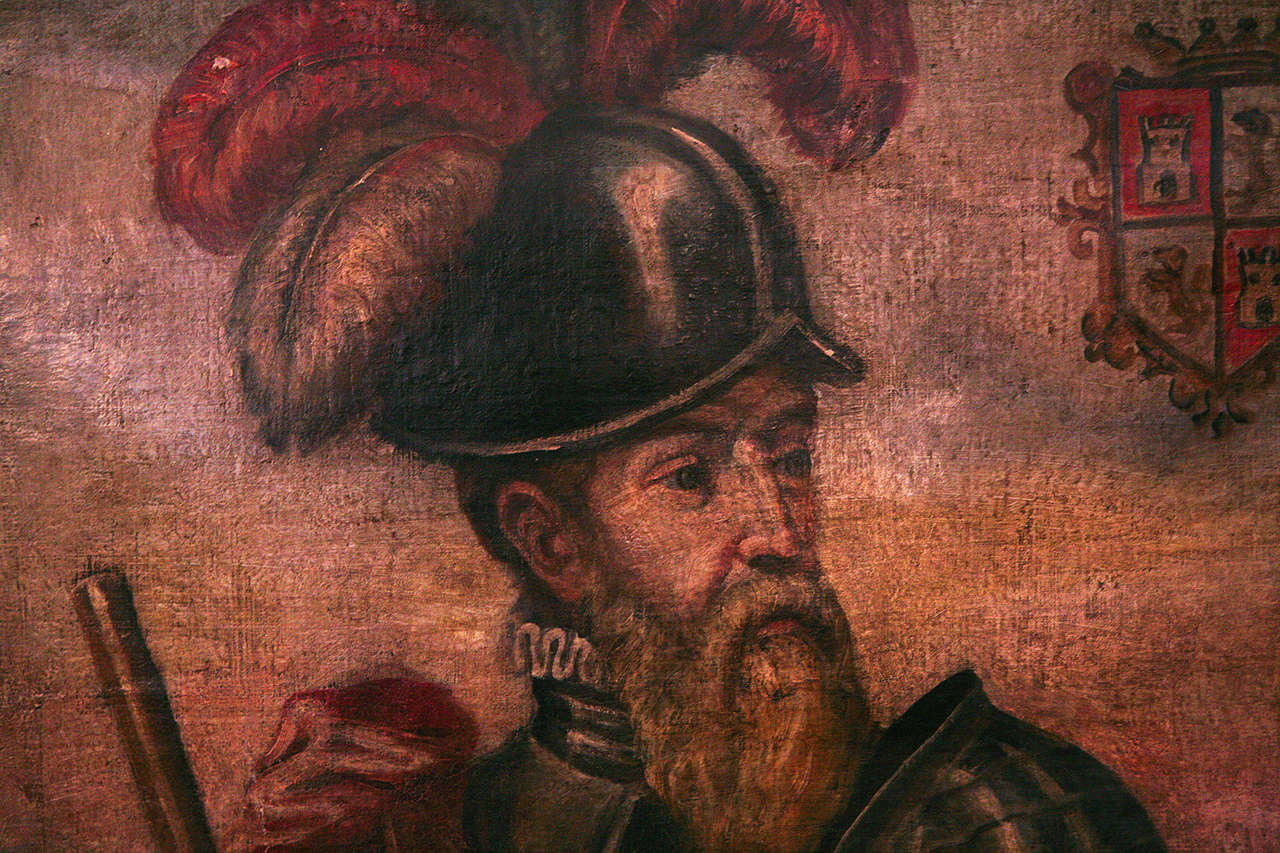 18th Century Peruvian Conquistador Painting For Sale 4