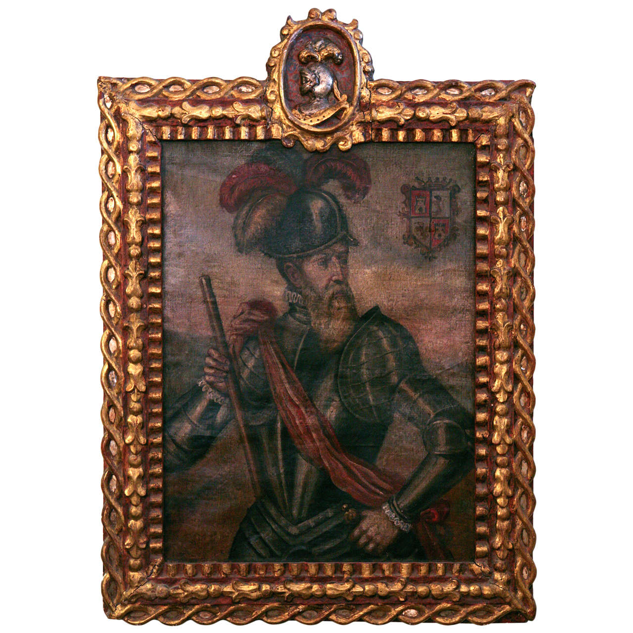 18th Century Peruvian Conquistador Painting For Sale