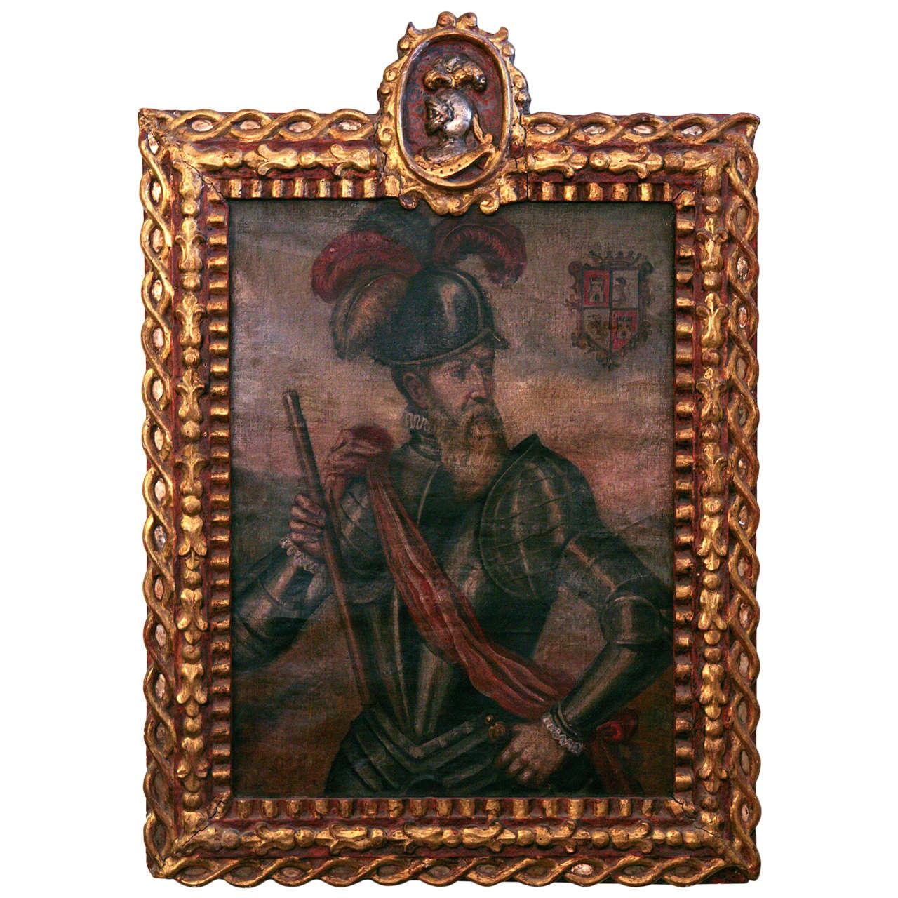 18th Century Peruvian Conquistador Painting