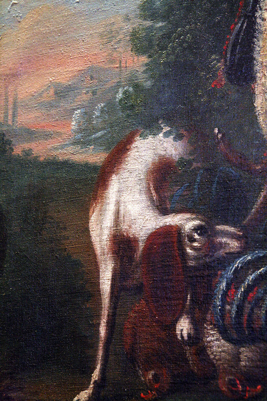 Unknown 18th Century Spaniel Oil Painting For Sale