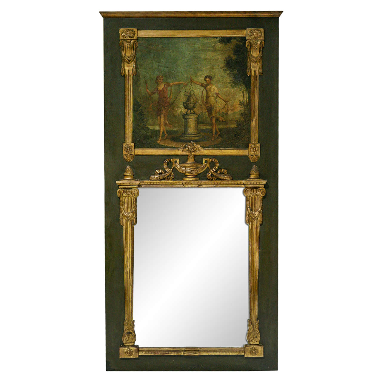 19th century french trumeau mirror at 1stdibs. Black Bedroom Furniture Sets. Home Design Ideas