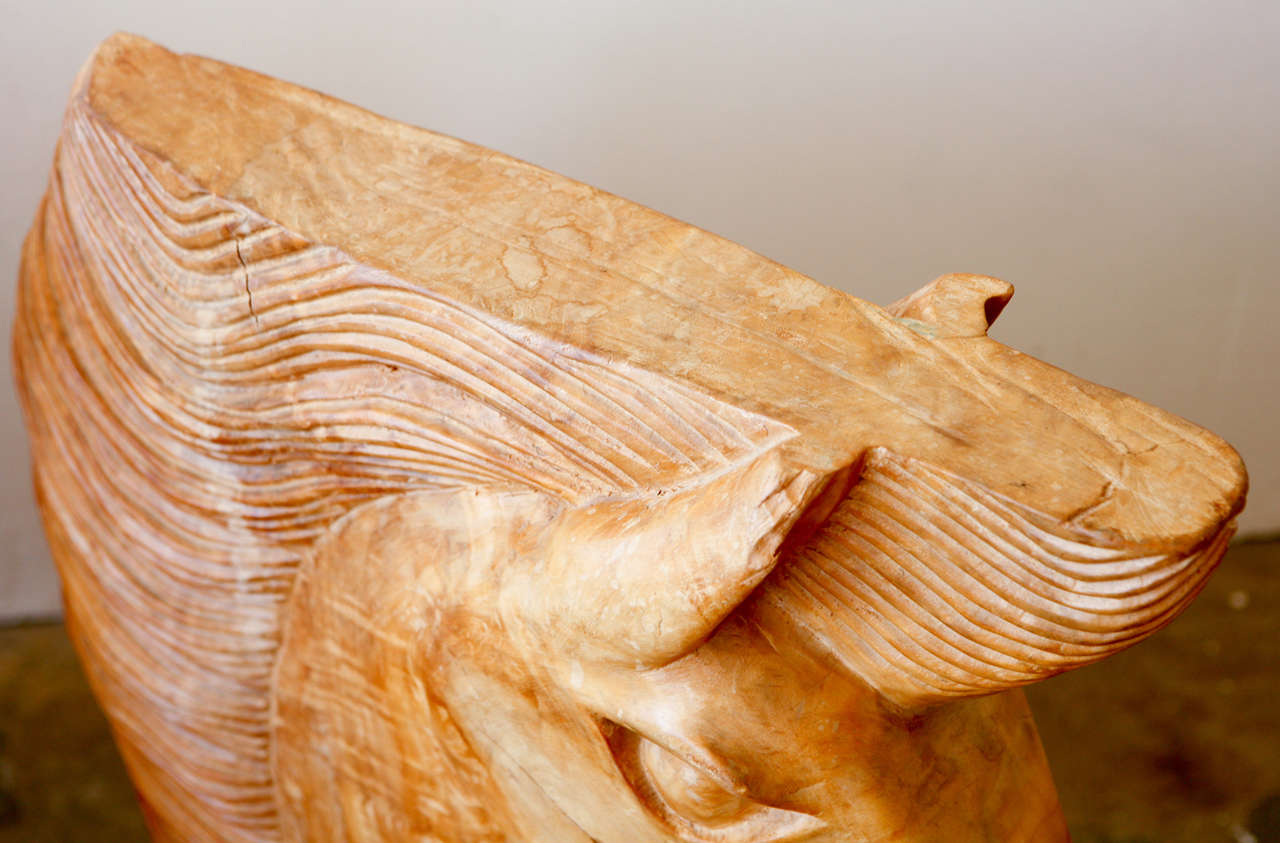 Large wood carved horse heads at stdibs
