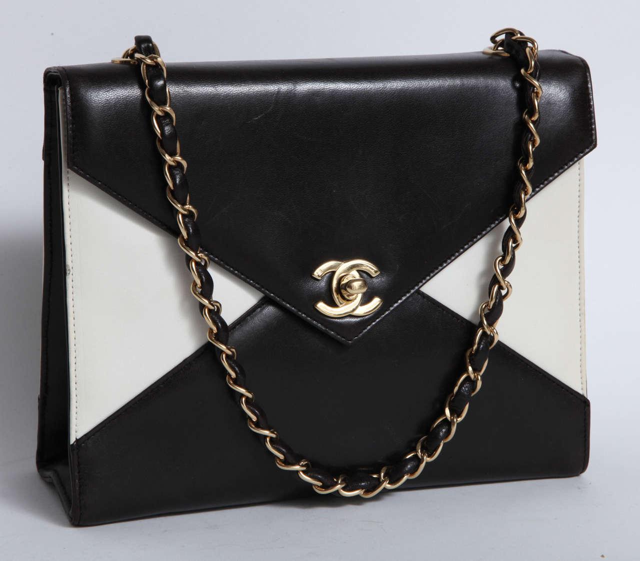 Vintage Chanel Black and White Handbag 2