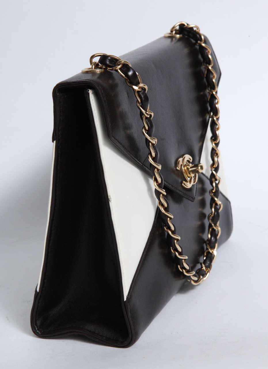 Vintage Chanel Black and White Handbag 3