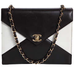 Vintage Chanel Black and White Handbag