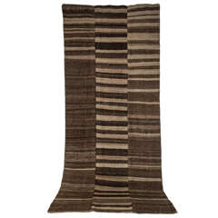Vintage Double-Sided Persian Mazandaran Flat-Weave Rug