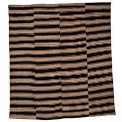 Vintage Large Persian Mazandaran Striped Flat-Weave Rug