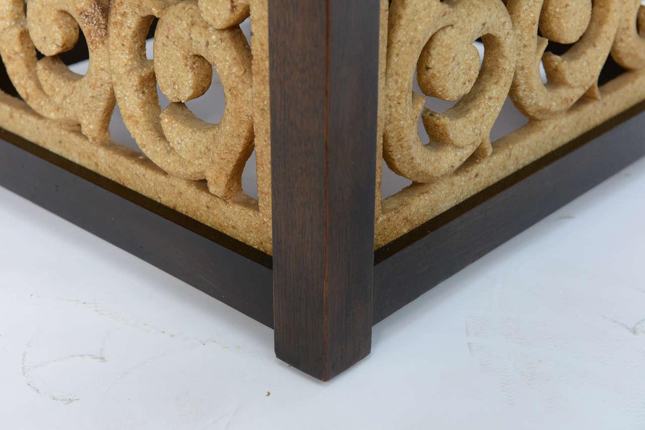 Elegant 1950s Detailed Widdicomb Side Table in Walnut For Sale 2