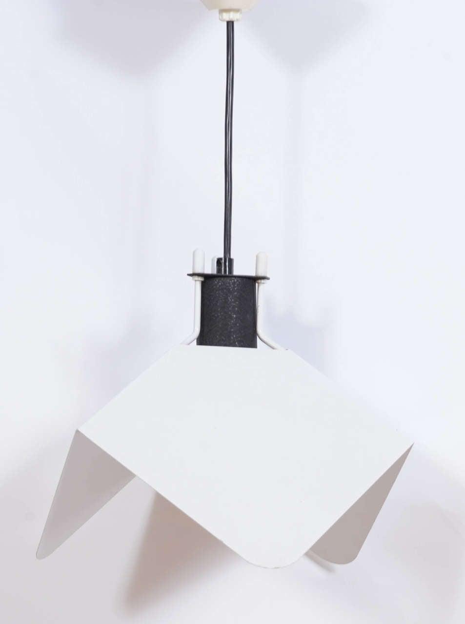 Italian Rare Set of Two Triedro Pendants by Joe Colombo for Stilnovo For Sale