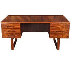 Rare Mid Century Danish Rosewood Desk by Jensen & Valeur