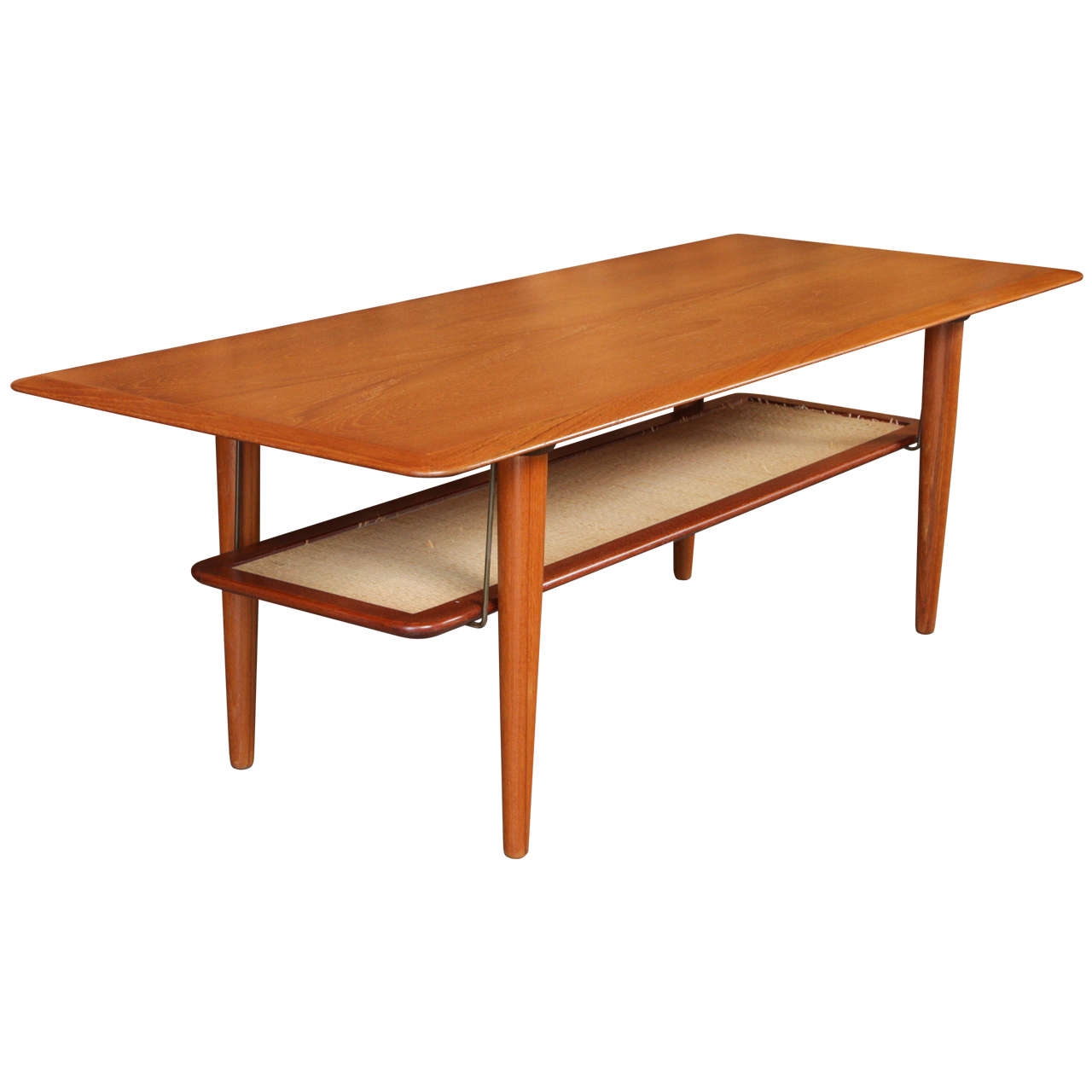 Mid century danish modern peter hvidt teak coffee table at 1stdibs Modern teak coffee table