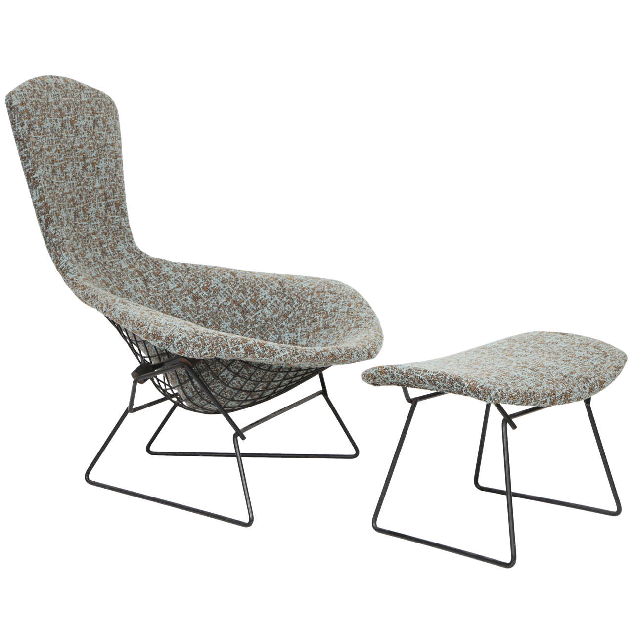 harry bertoia bird chair and ottoman for knoll at stdibs -