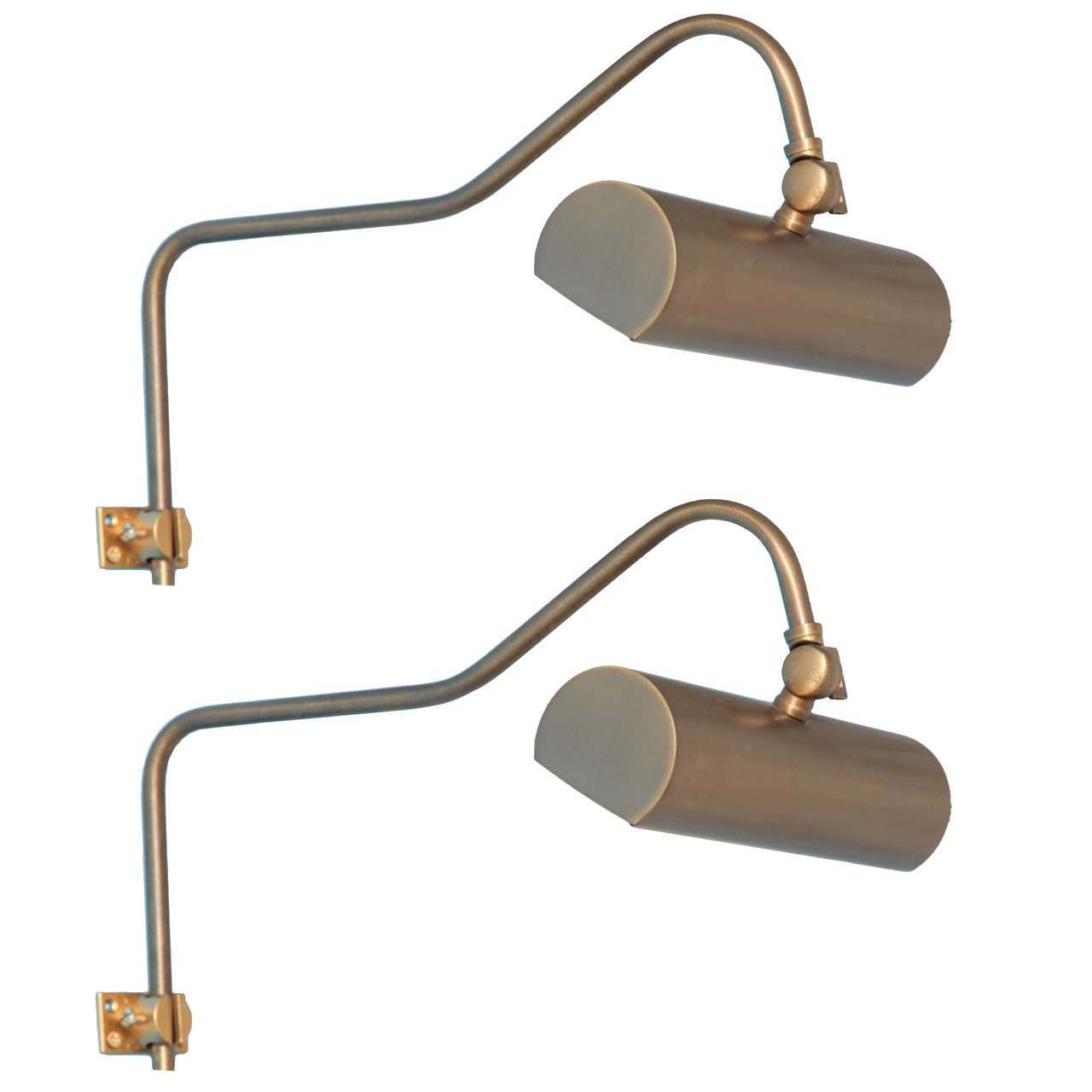 Pair of Art or Bookcase Gallery Lights For Sale at 1stdibs